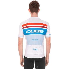 Cube Teamline Competition Kurzarm Trikot Herren white´n´blue´n´red